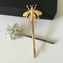 Women Fashion gold Bee Hairpin Side Clip Head wear Barrette Bobby Pins Wholesale