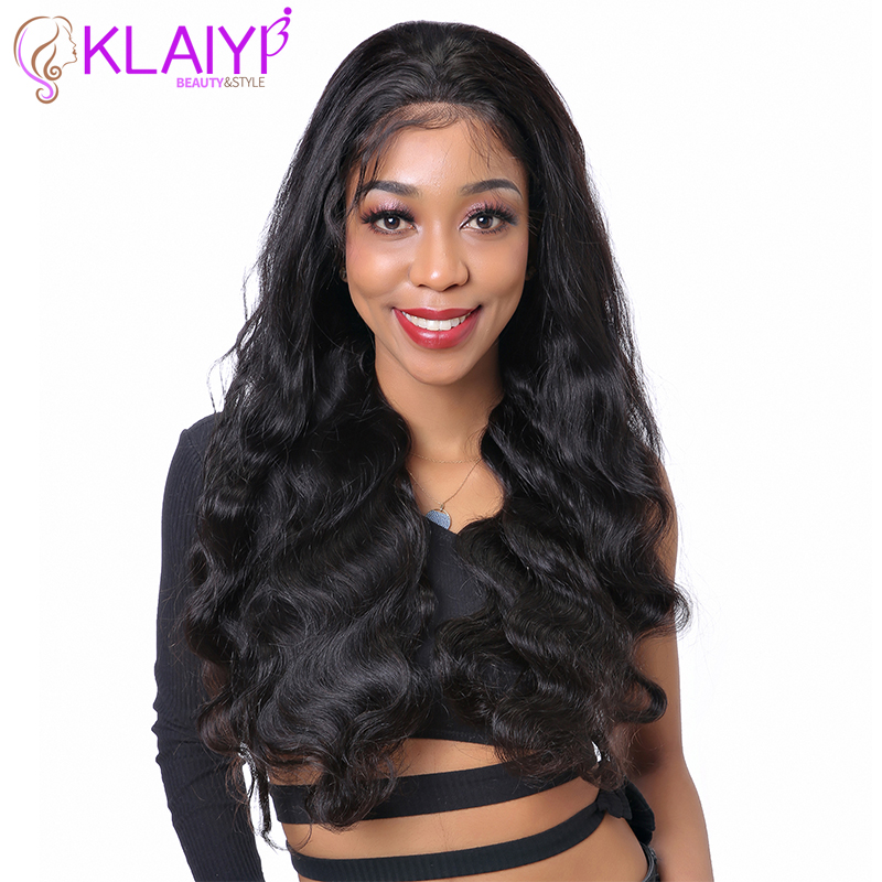 Klaiyi Wave Human Hair Wigs Pre Plucked Human Hair Wigs For Black Women 8 24 inch