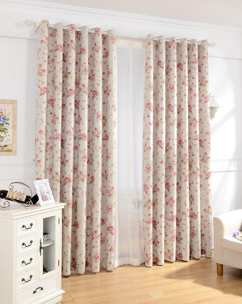 urijk moderna cortinas estampadas florales para la sala de estar dormitorio floral cortinas cortinas de