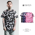 2017 Tee Shirt Men Pink Shark T Shirts Camouflage Men Short Sleeve T-Shirt Hip Hop Skateboard Street For Men Cotton T-Shirts
