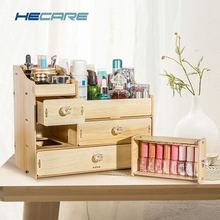 8 Styles Available Wooden Makeup Storage for Cosmetics Home Desk Make up Drawer Organizer Eco-friendly Box Jewelry