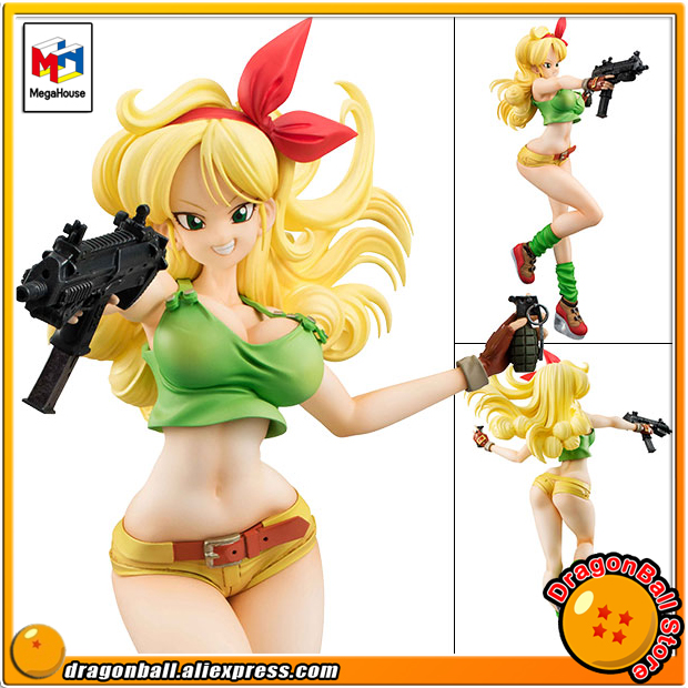 Japan Anime Dragon Ball Original MegaHouse Dragon Ball Gals Complete Collection Figure - Lunch Blonde Ver.