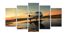 High-quality Modern Printed On Canvas plane painting for living room decoration 5pcs/set wall landscaping canvas prints MS0046(China)