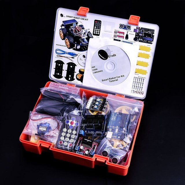Smart Car Robot Kit for Arduino Bluetooth Chassis suit Tracking Compatible UNO R3 DIY KIT RC Electronic EU Plug Free Shipping