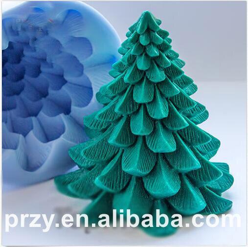 3d Christmas tree Silicone molds Christmas tree soap mold silicone soap molds silica gel die Aroma