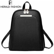 Herold Mode Casual Schüler Rucksäcke Schultaschen für Mädchen Im Teenageralter Frauen Leder Rucksäcke Jugend Laptop Rucksack Tägliche Taschen