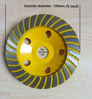5 Inch 125mm Diamond Segment Grinding Wheel Grinding Disc Wheel Bowl Shape Grinding Cup Concrete Granite