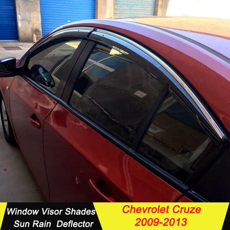 Slim Stainless Chrome Window Sun Vent Visor Molding For CHEVROLET 2017-18 Malibu