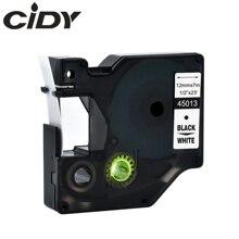 Cidy 100 قطعة متوافقة DYMO D1 12 مللي متر الشريط 45013 الأسود على الأبيض تستخدم ل ديمو labelmanager LM160 LM280 dymo PNP
