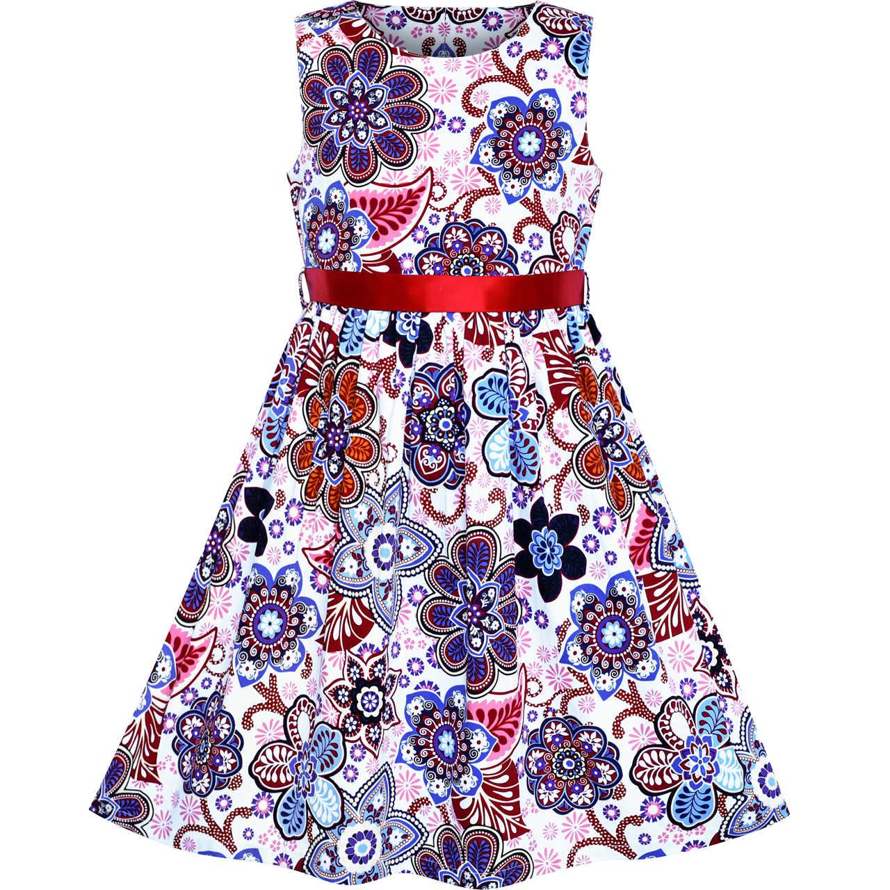 Sunny Fashion Robe Fille Coton Decontractee Fleur Ete Robe D Ete 2020 Ete Princesse Mariage Fete Robes Fille Vetements Reconstitution Historique Aliexpress