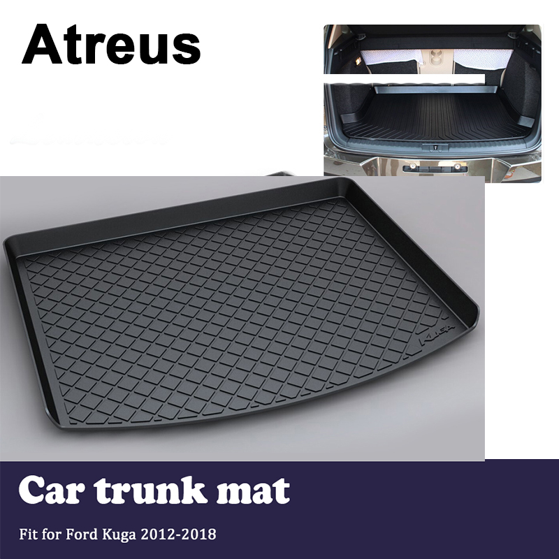 Atreus Car Trunk Cargo Floor Liner Tray Mat Cover Protection Blanket For Ford Kuga 2012 2013 2014 2015 2016 2017 2018 все цены