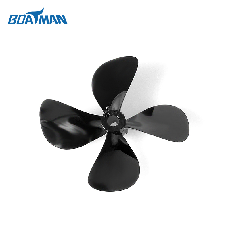 Great price plastic propeller black 4blades propeller for bait boat fishing parts
