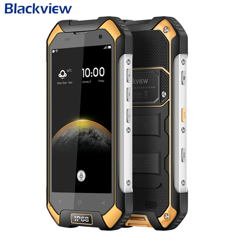 Original Blackview BV6000S Cell Phone RAM 2GB ROM 16GB MT6735 Quad Core 4.7 inch 8.0MP Android 6.0 IP68 Waterproof Moblie Phone