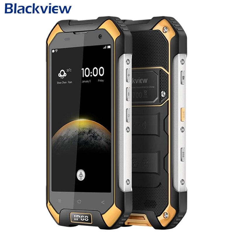 Téléphone portable d'origine Blackview BV6000S RAM 2 GB ROM 16 GB MT6735 Quad Core 4.7 pouces 8.0MP Android 6.0 IP68 téléphone portable étanche