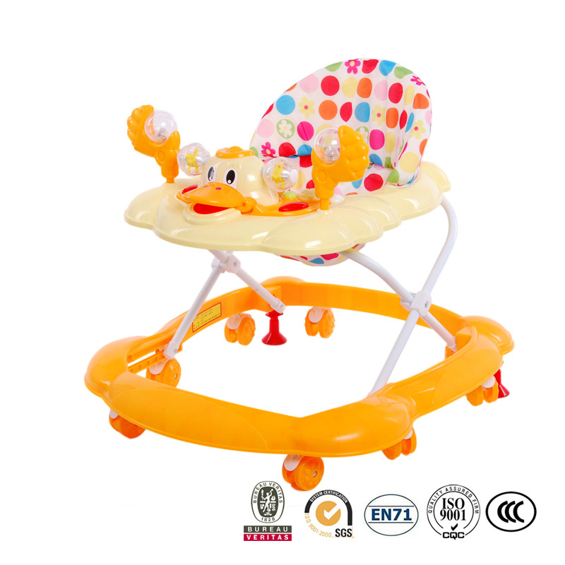Baby Adjustable Walker Baby Balance First Steps Car Early Educational Music Kids Toddler Trolley Sit-to-Stand Walker 6-18Months