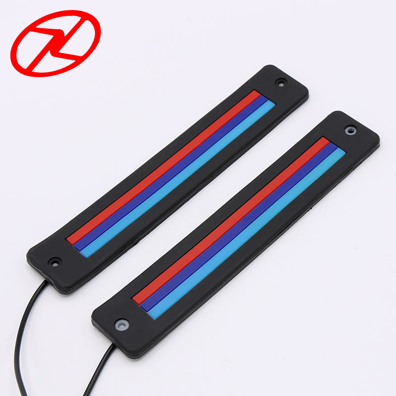 2PCS Cars Flexible Daytime Running Light Waterproof Striped Blue Red COB Chip LED Auto Daylight DRL 186mm