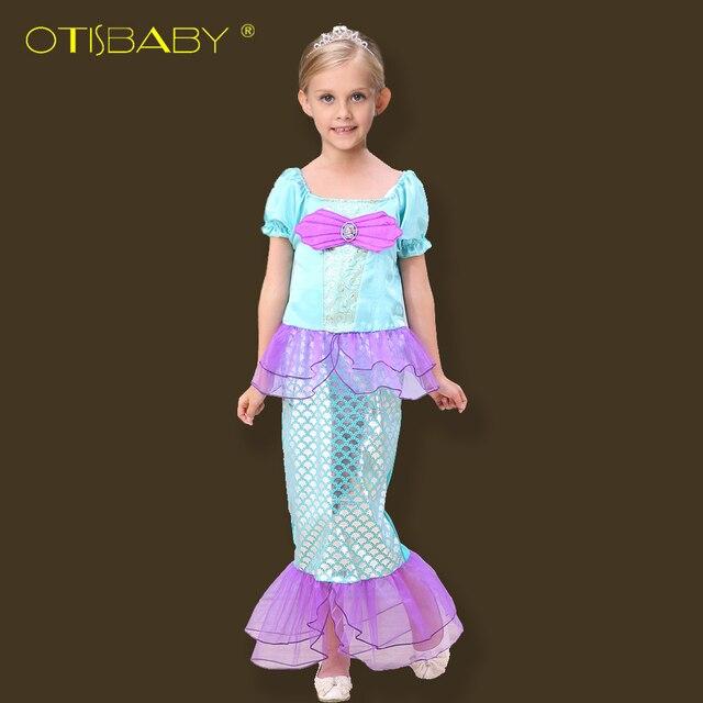 7dd8f0caa5d New Design Elagants Mermaid Dresses for Girls Cospaly Princess Dress Kids  Girls Holiday Dresses Prom Stage Performance Dress Hot