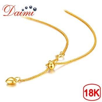 70c7a756fe16 Fina Au750 real 18 K blanco cadena de oro mujeres cable enlace ...