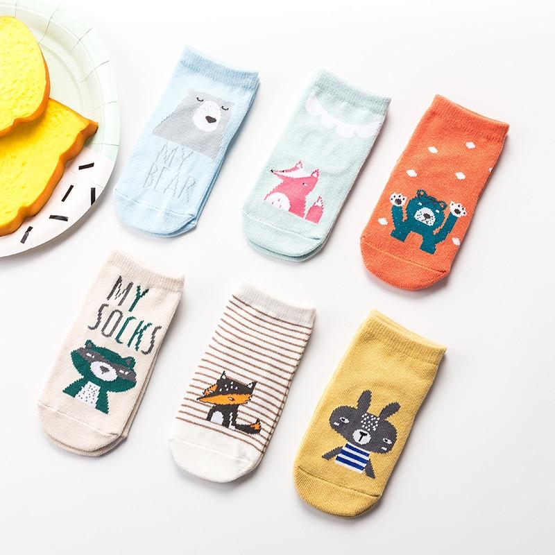 Newborn Socks Cartoon Baby Socks Non-slip Infant Cotton Rubber Anti Slip Floor Socks Toddlers Autumn Spring Fashion Animal Socks