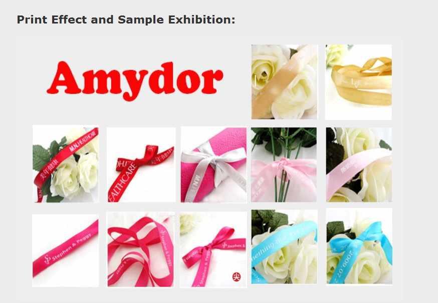 Amydor320 Roll untuk Roll Label Digital Mesin Cetak/Label Pakaian Mesin Cetak/Ribbon Printer untuk Hadiah Khusus Pembungkus