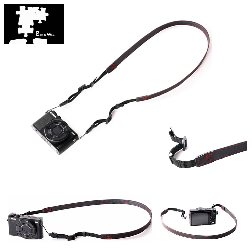 Pu Leather Camera Shoulder Neck Strap For Leica Qp X2 X1 X Vario Q X-u Sl D-lux 6 5 M Monochrom M-p M10 M9 M9-p M8 M7