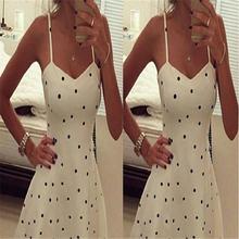 Женское вечернее платье в горошек белое праздничное Повседневный
