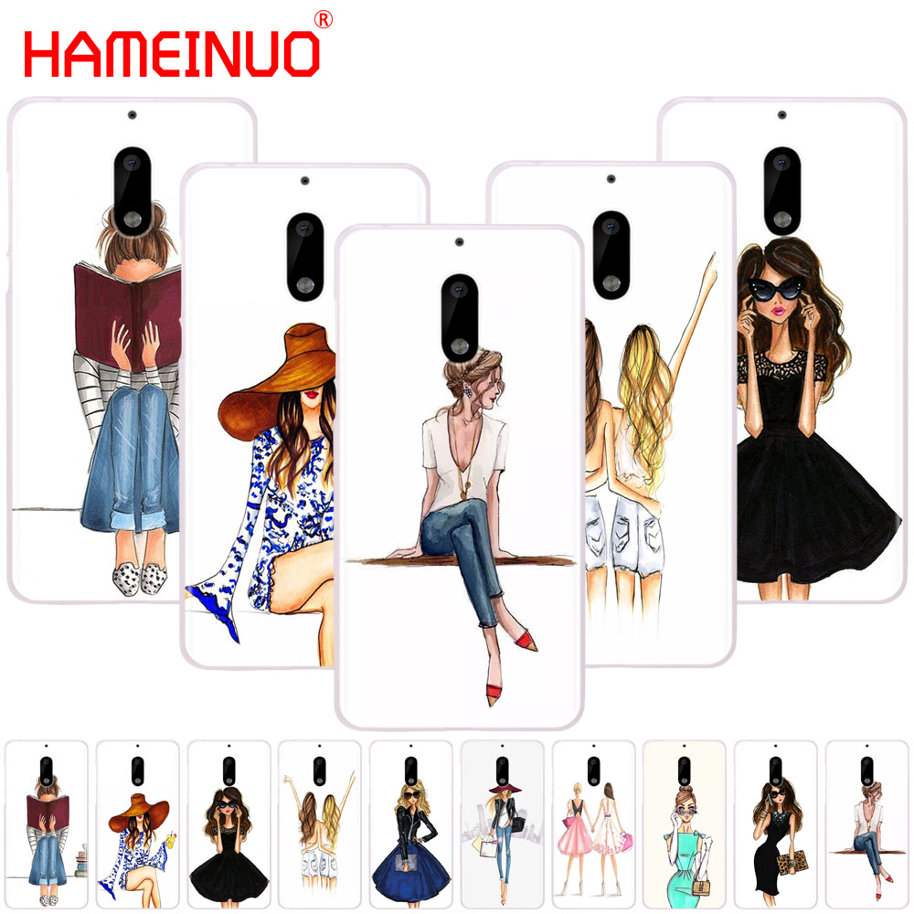 HAMEINUO Beautiful Love <font><b>Dress</b></font> Shopping Girl cover phone case for <font><b>Nokia</b></font> 9 8 7 6 5 3 Lumia 630 640 640XL 2018