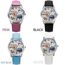 O3 Обувь для девочек Для детей часы Счастливые овец кожаный ремешок Наручные часы студент мультфильм кварцевые часы Montre Relogio