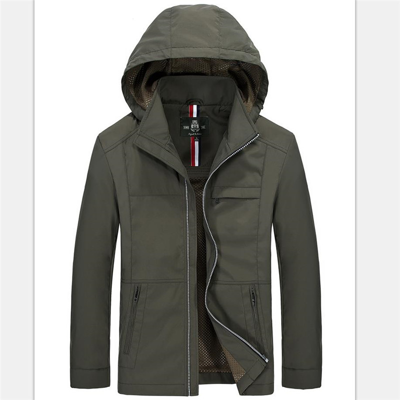 ФОТО 2016 New Arrival Brand Jacket Men Outdoor Hiking Camping sports Coat Men's Hat Can Separated High Quality Male waterproof Jacket