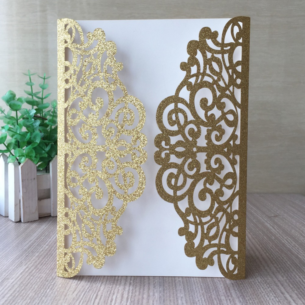30pcs/lot Hot Selling Exquisite Laser Cut Carved Wedding Card Birthday Party Invitations Banquet Party Supplies Gift Card image