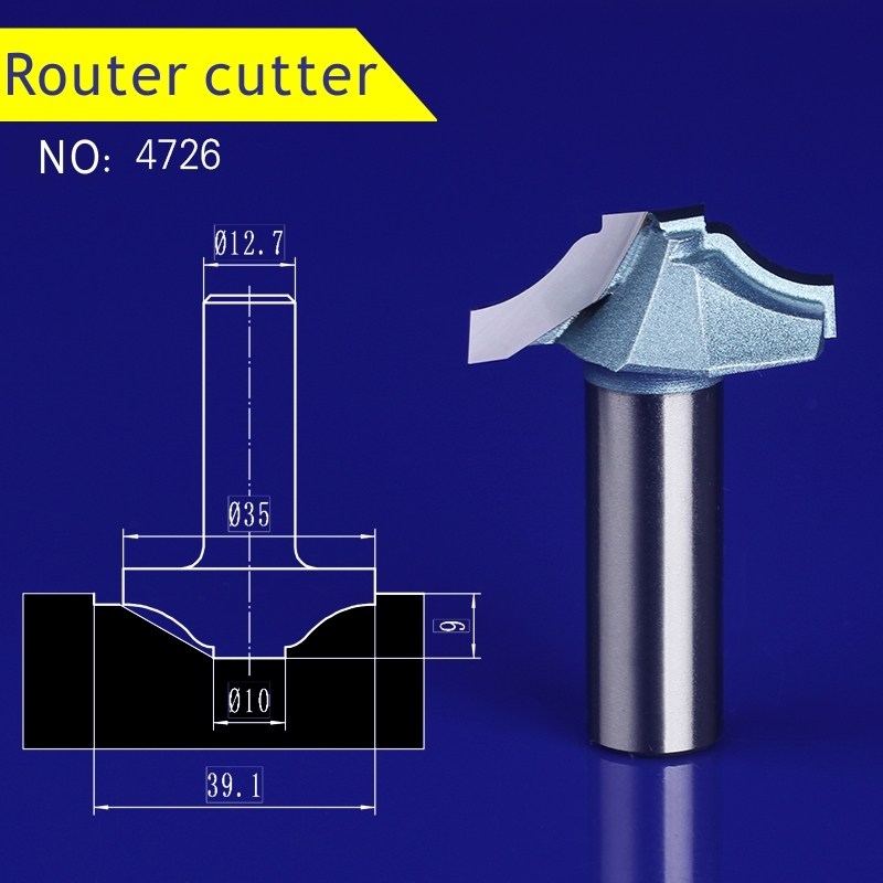 1pcs 12.7*35mm Chest/Door wood engraving machine tool slotting Lace milling cutter woodworking Hollow out cutter 4726 1pcs 6 16mm chest door engraving machine milling knife wood cutter router bit knives 3d lace woodworking milling cutter no 4046