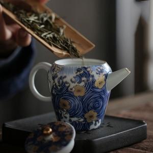 """Image 2 - PINNY théière en porcelaine, """"nuit étoilée"""", théière Kung Fu chinois en porcelaine de 150ml, Service à thé peint à la main de haute qualité"""