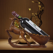 Creative wine rack decoration Resin plum deer craft Living room ornament European