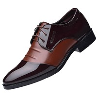 Pointed Toe Men Dress Shoes - Leather Oxford Formal Shoes For Men 3