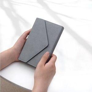 Image 2 - Yiwi 3 fold Krokodil Patroon PU Leer Notebook Roze Zwart Rood 17x12 cm A6 Hobo Stijl Planner
