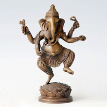 ATLIE BRONZES 7.8'' bronze sculpture Sri Ganesh buddha statue Ganesha Buddhism temple decoration