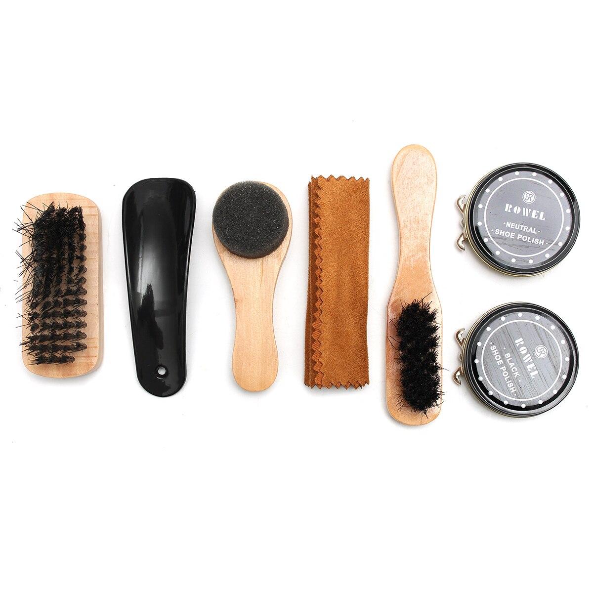 BSAID 7 piezas de Kit de cepillo herramienta limpiador de cuero ... 851e78a2a501