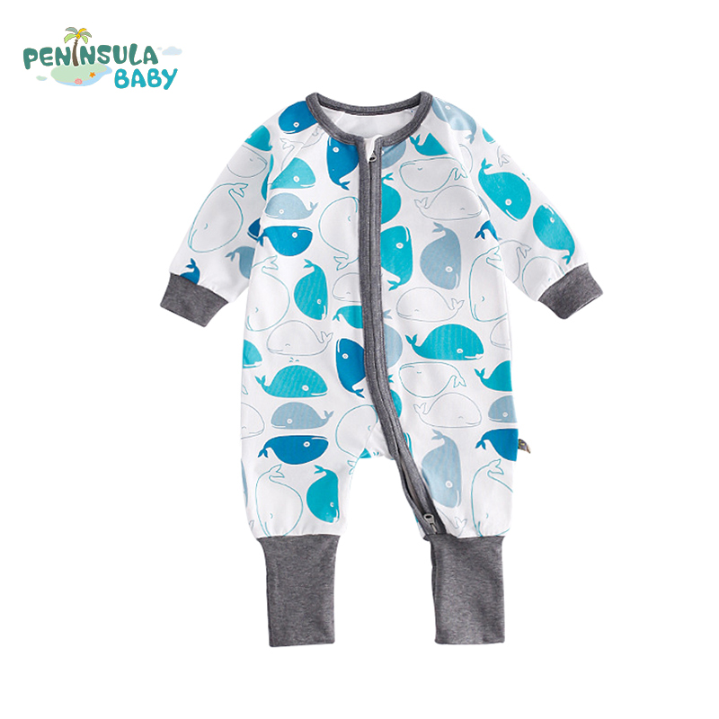 Baby Girls Rompers Long Sleeve Funny Cartoon Printed Autumn Kids Lovely Climbing Clothes With Zipper Newborn Baby Boys Clothing детский комбинезон n a winter style newborn toddler s rompers lovely cartoon long sleeve warmful clothes for baby kids climbing clothing 1pc tz053