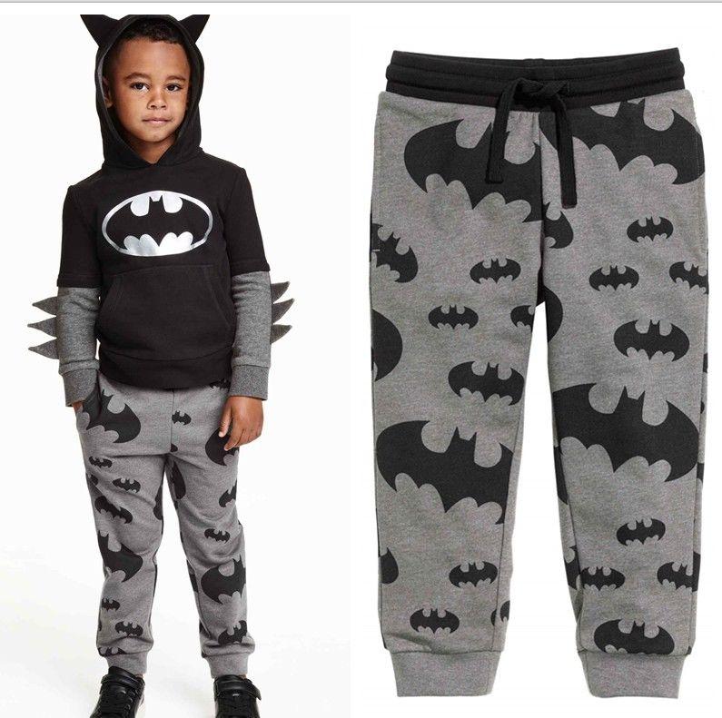 Spring Boys Kids Cartoon Batman Pantalones estampados Pantalones - Ropa de ninos