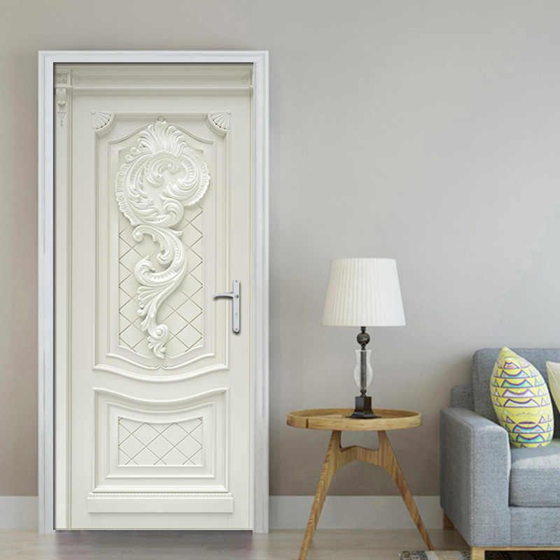 ПВХ водонепроницаемые самоклеющиеся дверные наклейки обои для гостиной спальни двери обои искусство наклейки на стену Настенная роспись стикер на стену