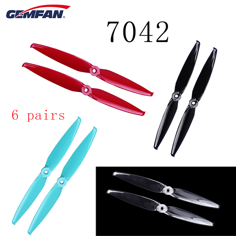Gemfan Flash <font><b>7042</b></font> 7.0x4.2 / 6042 6.0x4.2 PC 2-blade <font><b>Propeller</b></font> 5mm Mounting Hole for RC FPV Racing Drone Multicopter Accs image