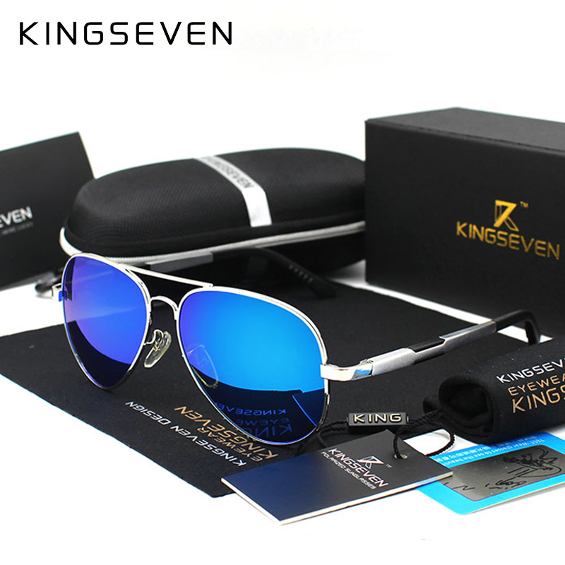 Kingseven Alüminium Maqnezium Qızıl Moda Polarized Lens Günəş - Geyim aksesuarları - Fotoqrafiya 5