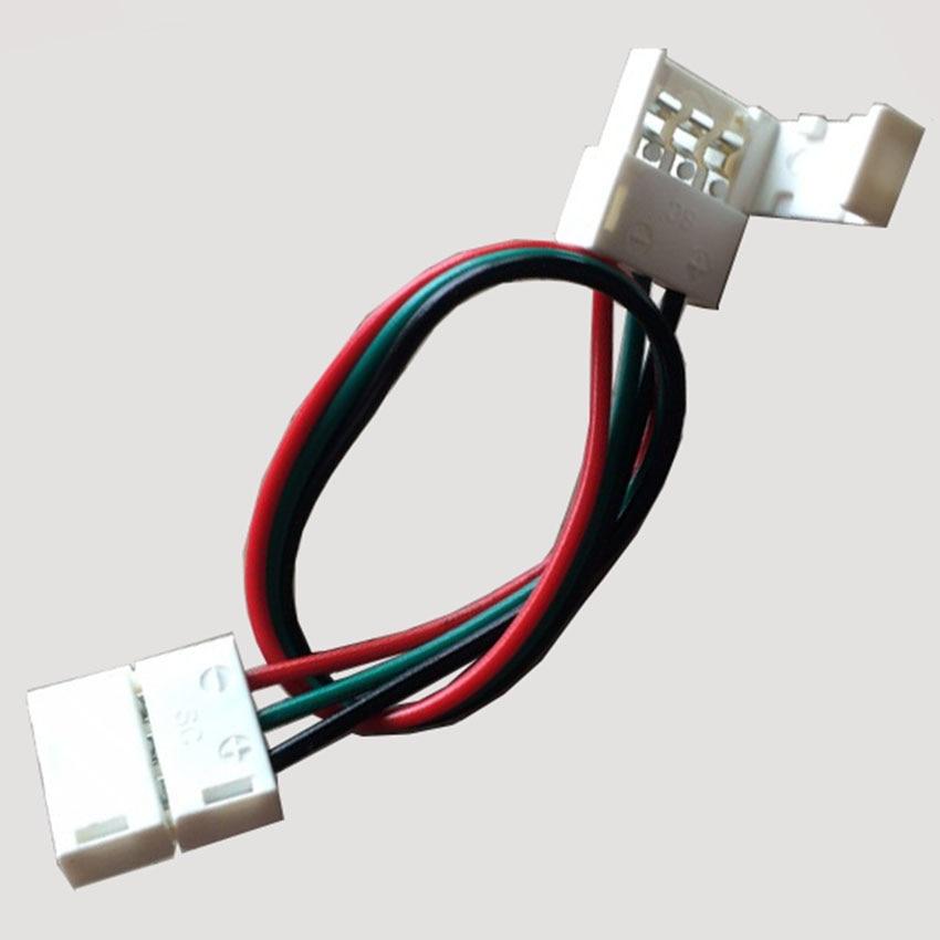 Conectores de esquina sin soldadura PCB, 5 pares, conector macho y hembra de 3 pines, Clip de 1/2 para luces de tira de píxeles Led de ancho PCB de 10mm