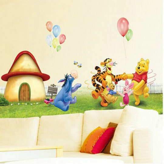 ... 2015 Cartoon Baby Wall Decals Nursery Baby Room Decor Winnie The Pooh  Removable Wall Stickers For Part 51