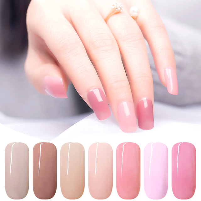 KADS 7ML Nail Polish Glue Lacquer Base Top Coat UV LED Lamp Soak Off Nail Art Manicure Semi Permanent Pure Color Healthy