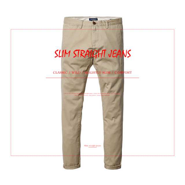 Spring  & Summer New Fashion of 2017 Slim Straight Men Casual Pants 100% Pure Cotton Man Trousers Plus Size