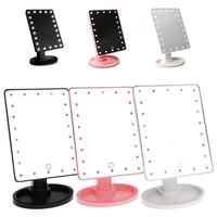 22 Tela de Toque de Luz LED Iluminado Espelho de Maquiagem Cosméticos Espelho de Aumento de Mesa