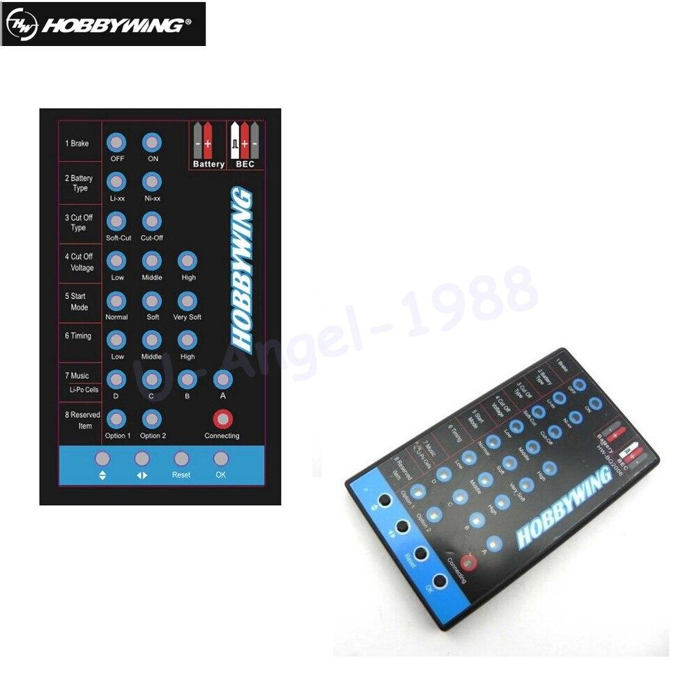 HOBBYWING Programm-karte LED SCHWARZ Skywalker 20A 30A 40A 60A 80A FLYFUN Pentium ESC Hubschrauber