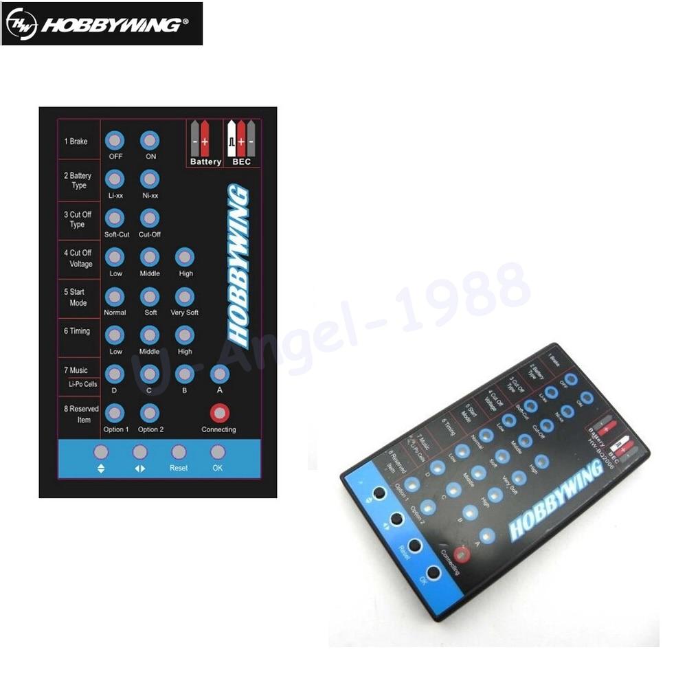 Tarjeta de programa HOBBYWING LED negro Skywalker 20A 30A 40A 60A 80A FLYFUN Pentium ESC helicóptero