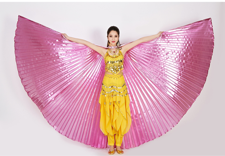 Bag /& Sticks Egyptian Belly Dance Professional Taffeta Black Isis Wings